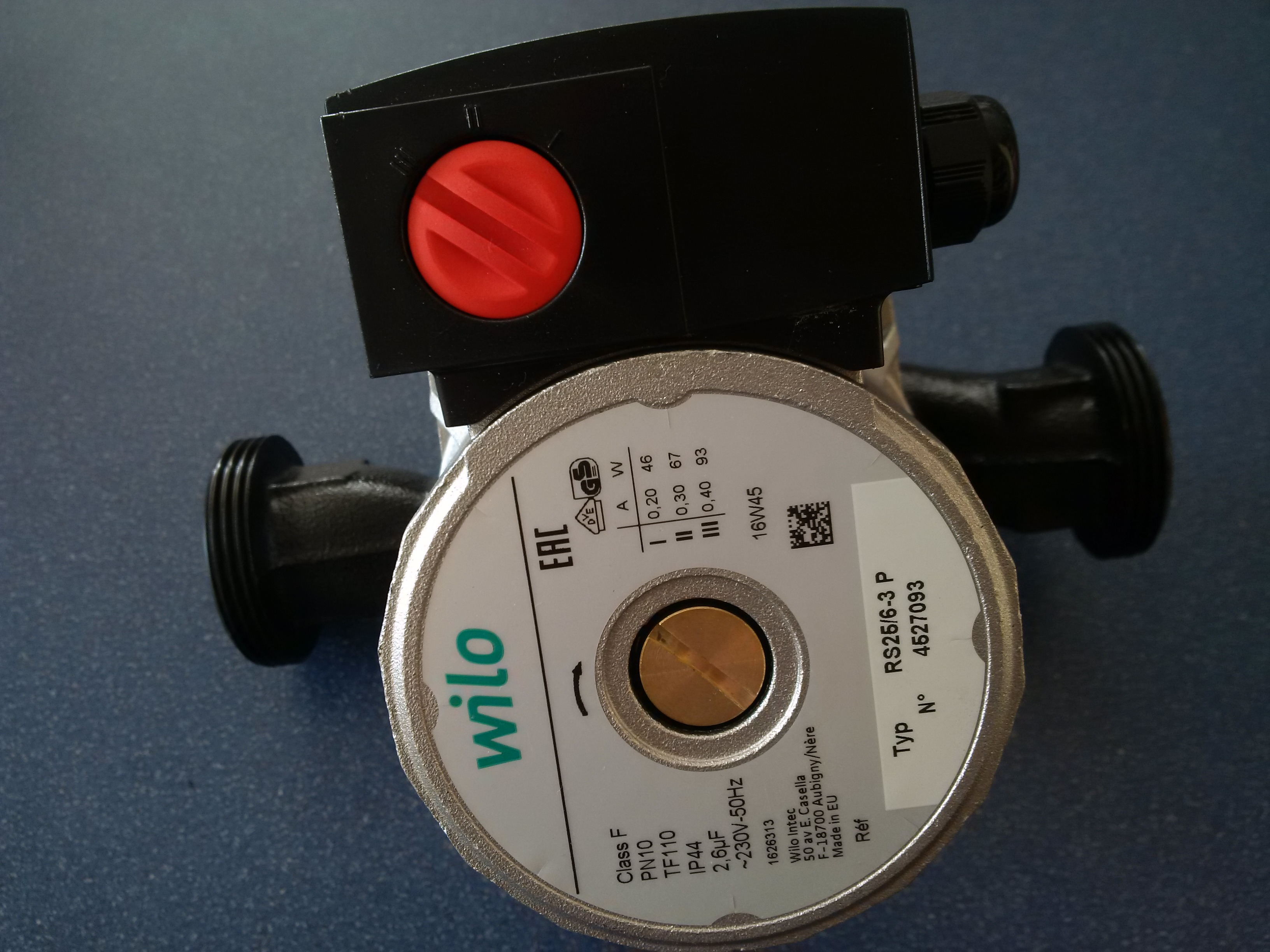 WILO RS 25/6-3 P 180mm